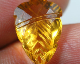 6.15cts  Gold Yellow Citrine Fancy Carving Gemstone
