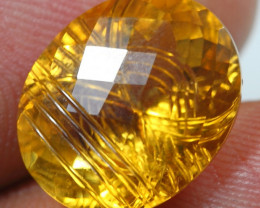 9.40cts  Gold Yellow Citrine Fancy Carving Gemstone