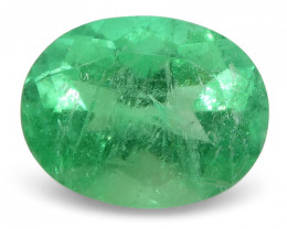 0.74 ct Oval Emerald Colombian