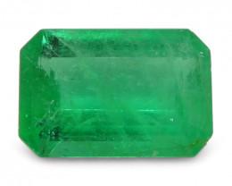 0.88 ct Emerald Cut Emerald Colombian