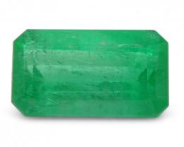 0.84 ct Emerald Cut Emerald Colombian