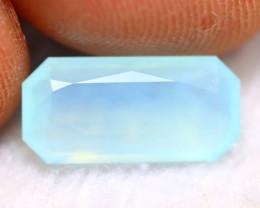 Paraiba Opal 1.96Ct Natural Peruvian Seaform Paraiba Blue Opal B1309