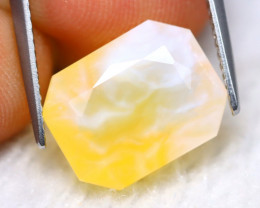 Fire Opal 4.71Ct Natural Faceted Mexican Yellow Fire Opal B1316