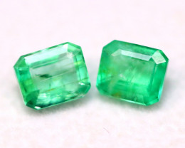 Emerald 1.52Ct Natural Zambian Green Color Emerald B1324
