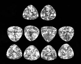 14.09Cts Natural White Zircon Trillion 6.00mm Parcel Cambodia