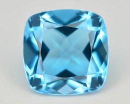 Brilliant Cut 3.65 ct Top Color Blue Topaz ~ Swiss