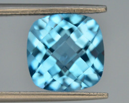 Brillient Cut 5.40 ct Top Color Blue Topaz ~ Swiss
