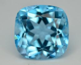 Brillient Cut 7.35 ct Top Color Blue Topaz ~ Swiss