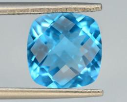 Brillient Cut 3.50 ct Top Color Blue Topaz ~ Swiss