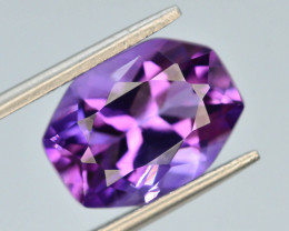 Top Color 5.05 ct AAA Cut Untreated Amethyst
