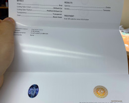 *NR* 3.78 ct GIA Certified Tanzanite