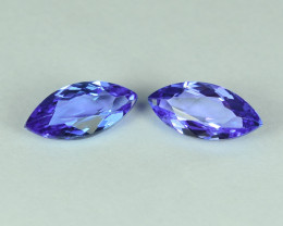3.21 Cts Stunning Lustrous Natural Tanzanite Marquise Pair