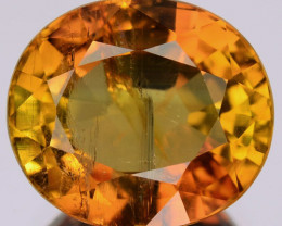 4.43 Cts Natural Orange Tourmaline Oval Mozambique