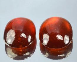 15.62 Cts Natural Red Hessonite Garnet Oval Cabochon Gem