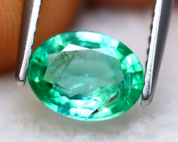 Emerald 0.95Ct Natural Best Luster Zambian Green Emerald A1404