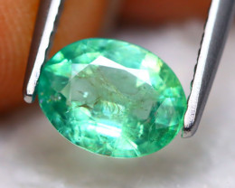 Emerald 0.95Ct Natural Best Luster Zambian Green Emerald A1406
