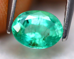 Emerald 0.95Ct Natural Best Luster Zambian Green Emerald A1435