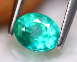 Emerald 0.80Ct Natural Best Luster Zambian Green Emerald A1437