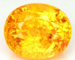 1.33 Cts Natural Mandarin Orange Spessartite Garnet Oval Cut Namibia Gem