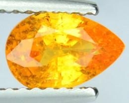 1.07 Cts Natural Mandarin Orange Spessartite Garnet Pear Cut Namibia Gem