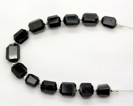 85 CT Gorgeous Black Tourmaline Drilled Faceted Beads@Pakistan