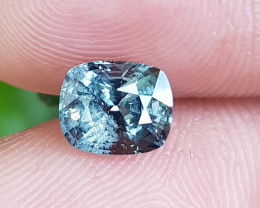 NO TREAT 1.43 CTS NATURAL STUNNING CUSHION MIX GRAY SPINEL FROM BURMA