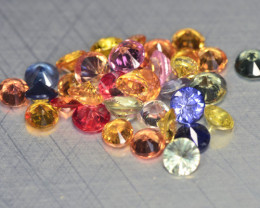 2.45 Cts 35 Pcs Natural Fancy color Sapphire Loose Gemstone