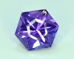 NR 2.30 cts Fancy Cut Natural Purple Color Amehtyst Gemstone