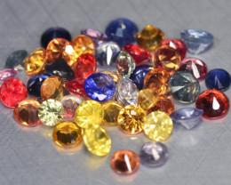 3.30 Cts 42 pcs Natural Fancy Color Sapphire Loose Gemstone