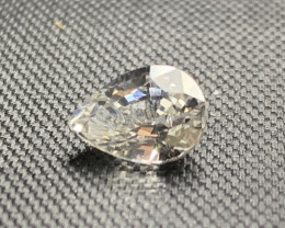 Amazingly Lustrous Natural White Sapphire Unheated/Untreated 1.30 Cts