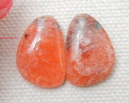 Rhodonite ,Handmade Gemstone ,Rhodonite Cabochon Pair ,Lucky Stone E735