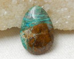 Sale 16cts Blue Opal Cabochon, October Birthstone, Blue Opal Bead E786
