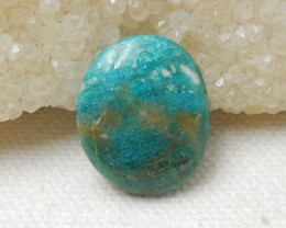 Sale 13cts Blue Opal Cabochon, October Birthstone, Blue Opal Bead E763