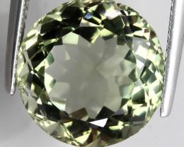 10.30ct Sparkling Round  Cut Green Amethyst  (Prasiolite) -
