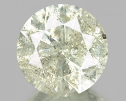 1.40 CTS UNTREATED YELLOWISH WHITE NATURAL LOOSE DIAMOND