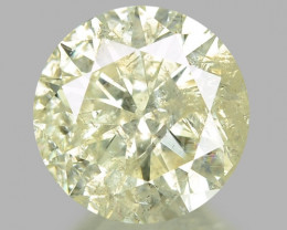 0.91 CTS UNTREATED YELLOWISH WHITE NATURAL LOOSE DIAMOND