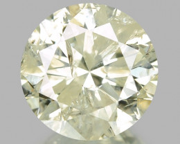 1.01 CTS UNTREATED YELLOWISH WHITE NATURAL LOOSE DIAMOND