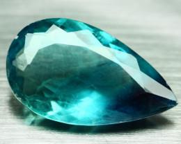 Large Teal Green Blue Fluorite Concave Cut No Reserve auction