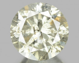 1.00 UNTREATED BROWNISH WHITE NATURAL LOOSE DIAMOND