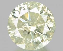 1.00 CTS UNTREATED YELLOWISH WHITE NATURAL LOOSE DIAMOND
