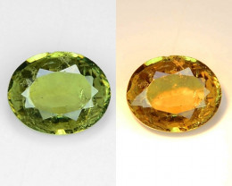 0.85 Cts Untreated Color Changing Natural Demantoid Garnet Gemstone