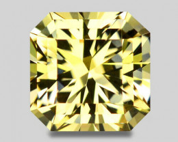 Flawless, custom cut top grade Namibian neon yellow tourmaline.