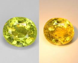 1.24 Cts Very Rare Yellowish Green Color Natural Chrysoberyl Gemstone