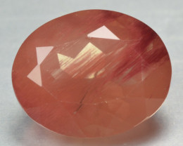 2.85 CTS RED ANDESINE NATURAL RARE GEMSTONE