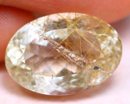 Rutile 11.79Ct Natural Golden Needle Rutile Quartz E1522