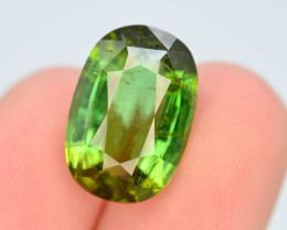 Top Color 9.65 Ct Lagoon Green Tourmaline From Afghanistan