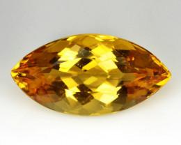 12.82 Cts AMAZING Natural Golden Yellow Beryl Marquie Cut Brazil Gem
