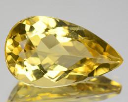 5.70 Cts Natural Yellow Beryl Pear Brazil Gem