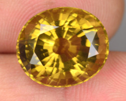9.42 Cts AMAZING Natural Golden Yellow Beryl Oval Cut Brazil Gem