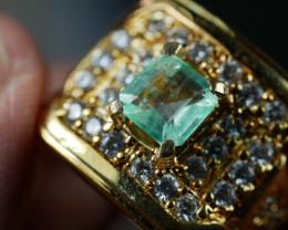 65.05 CT Pretty Natural Emerald Jewelry Ring *